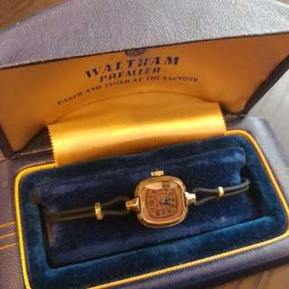 Vintage Waltham Premier Ladies Watch (14K Gold Filled Bezel) 古董女裝手錶