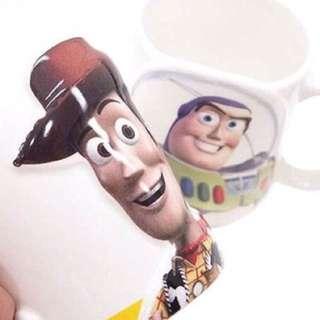 玩具總動員大臉浮雕陶磁馬克對杯組(胡迪&巴斯光年)