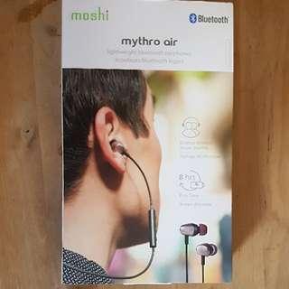 BNIB Moshi Mythro Air Grey Bluetooth In-Ear Headphones