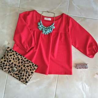 Lush Red Crop Top