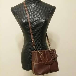 *FREE SHIPPING* Preloved 2 Way Small Tote Bag With Removable Bag Charm & Strap