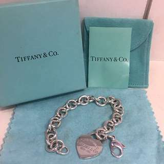 🚚 Tiffany&Co心型有刻字手鍊