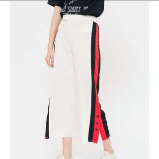 HERSPOT THREE BUTTON SIDE TRACKPANTS