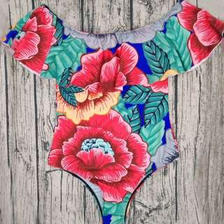 Off Shoulder Floral Swimsuit