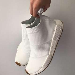 NMD White Gum City Socks