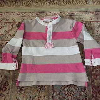 [PRELOVED] Chateau de Sable Rugby Sweater for baby girl