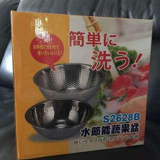 水節能不銹鋼蔬果盆