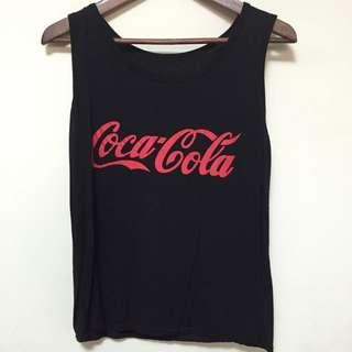 復古古著可口可樂標誌LOGO英文字背心