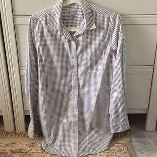 [PRELOVED] Mimpikita Checked Boyfriend Shirt for ladies