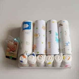 Brand New Carter Little Layette 4 Piece Romper 6 Piece Hand Towel Baby Girl Baby Boy