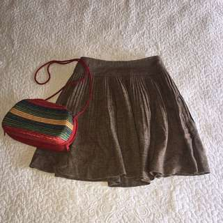 Pretty Pleated Wool Skirt