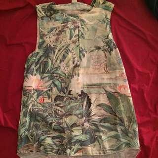 H&M Tropical Button Up Shirt