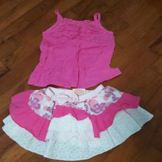 12-18mths Top And Skirt