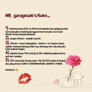MB_garagesale's Rules
