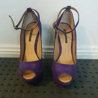 Tony Bianco Wedges - Purple