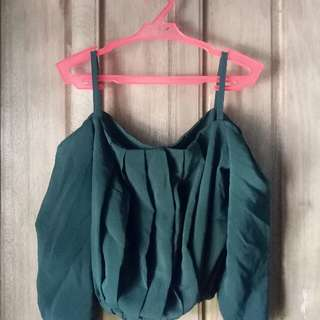 Emerald Green Off Shoulder Top
