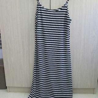 Long Strips Dress