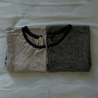 Forever 21 Stripes Cotton Tee