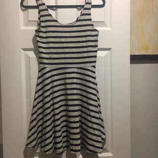 Factorie Striped Skater Dress