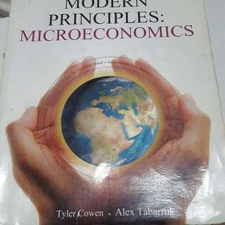 Modern Principles: Microeconomics By Tyler Cowen and Alex Tabarrok