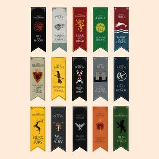 (SET) Game of Thrones Bookmarks