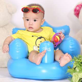 NEW Inflatable Baby Bath Chair THE STAR bed bathroom sea beach swimming pool eat