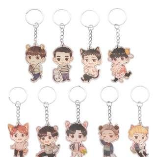 FREE POSTAGE EXO Keychains