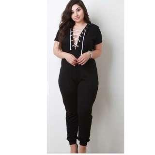 b85df6187ee Black Jumpsuit Plus Size
