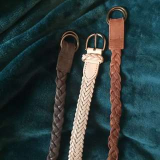 Braided Belt Belts x3