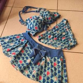 泳衣 3件式 連身款