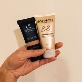 Garnier BB Cream & Elf Tinted Moisturiser