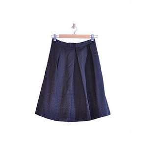 Black Pleated Midi Skirt (6)