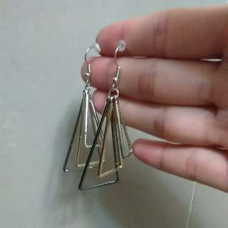 全新幾何三角形歐美大方耳環垂墜耳環