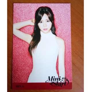 AOA Mina Miniskirt Japanese Ver. big photocard