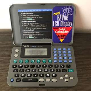Royal Electronic Personal Organizer Calculator DM70 NX