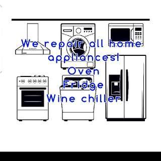 Appliance Repair, Stove, Oven, Fridge, Wine Chiller, Dryer, Etc
