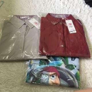 兩件韓系襯衫+玩總t-sharr