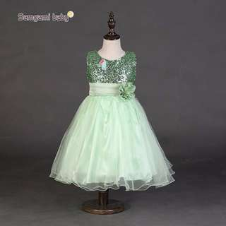 CLEARENCE STOCK #L26 GREEN DINNER DRESS