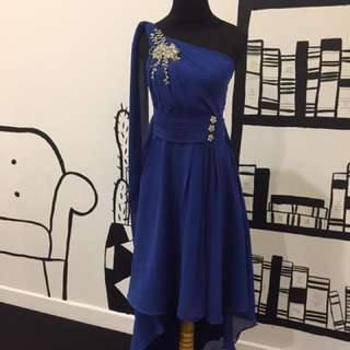 Bridemaids Dress Biru Elektrik