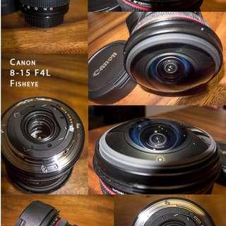 Canon 8-15mm f4L Fisheye USM EF