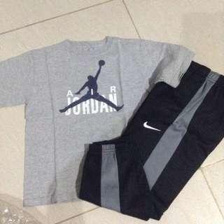 Nike And air Jordan Shirt And Jogging Pants