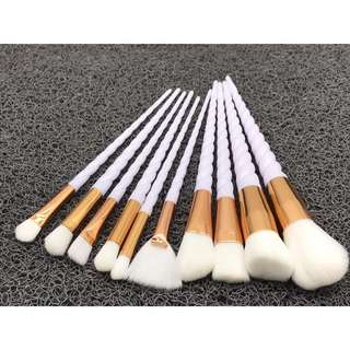 10 Pcs Unicorn brush Set