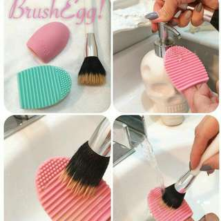 Egg Brush / Alat Pencuci Kuas Make Up Brush