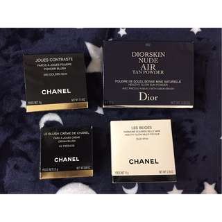 Chanel Joues Contraste, Le Blush Crème,  Les Beiges Healthy Glow; Diorskin Nude Air Tan Powder 香奈兒 迪奧 胭脂 修容