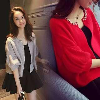 💖秋冬装新款💖百搭顯瘦連身裙+外套兩件式