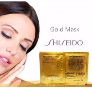 Shiseido Peel-Off Gold Mask with Birds Nest
