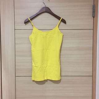 🚚 全新NET 棉質黃色細肩帶彈性背心