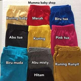 Legging Anak Polos Size S 1-2 TAHUNAN