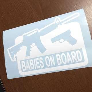 Kids Toy Gun Baby Car Decal