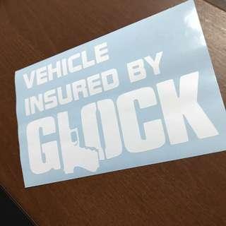 Kids Toy Gun Glock Car Decal